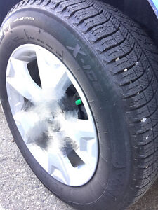 A set of 4 Michelin winter tires 225/60R17""