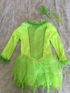 costume d'Halloween fée Clochette pour enfant, gr. large