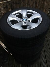 Bmw F30 16 inch alloy wheels with tyres