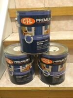 Behr and CIL matching trim paint and deck floor paint