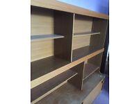 Wooden shelf on sale