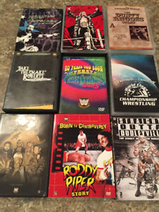 WWE wrestling dvd's. $40 Firm for 9 sets.
