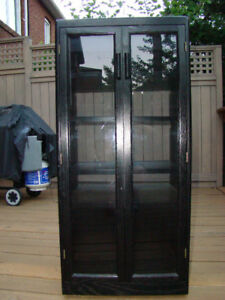 For Sale:  Custom Built Black Laquer Stereo Cabinet ($90 OBO)