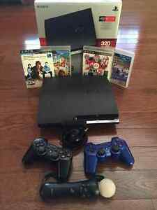 320GB Playstation 3 with controllers and select games