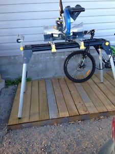 Sliding compound meter saw  with stand