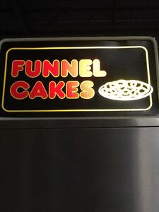 Funnel cake lighted sign 13.5'' X 24''