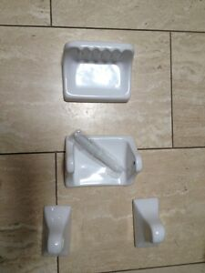 New white ceramic toilet accessories