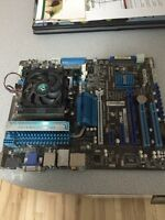 Asus Motherboard c/w 4 GB ram, Processor and fan