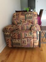 1 recliner love seat + recliner chair