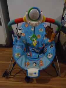 Chaise vibrante et musicale pour bébé