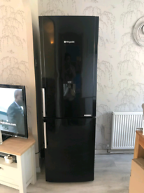 Black hotpoint Water dispenser fridge freezer frost free