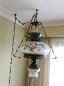 Hanging Hurricane Lamps (2) For Sale