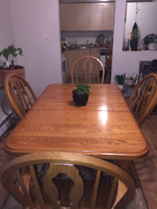 Great deal on solid wood oak table and 4 chairs