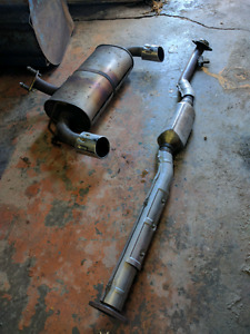 Stock Mitsubishi Evolution X exhaust for sale.