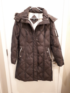 Size Small, Ladies   3/4 length brown winter coat