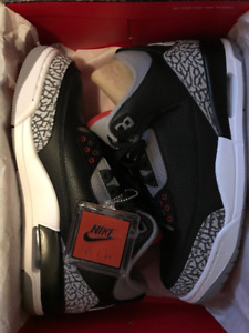 jordan 3 black cement size 9.5