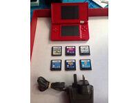 Nintendo DS lite Console +Super Mario Bros Purr pals Puzzle Dolphin island Zoo Zhu Zhu pets
