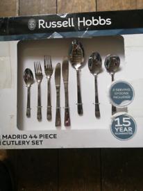 Russell Hobbs Madrid 44 piece cutlery set