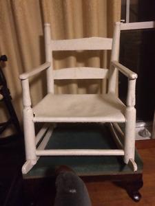 Antique Children's Rocking Chair (White)