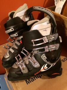 Ski et bottes de ski pour femme grandeur 8 ou 9