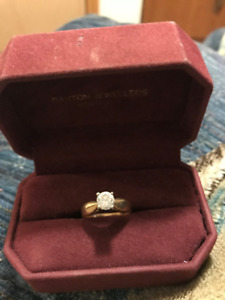 14 KT Yellow and White Gold Diamond Ring