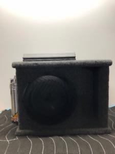 "JVC 10"" Subwoofer w/box + TML 500w Amp + Raptor Capacitor"