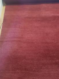 Red wooly carpet