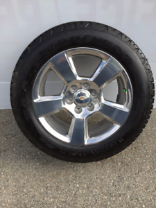 "20"" Chev / GMC Factory Polished Aluminum  Alloy  Rims & Tires"