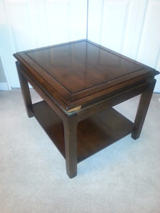 Beautiful pair of solid wood side tables