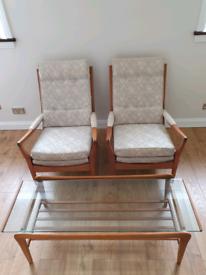 Retro vintage Cintique armchairs