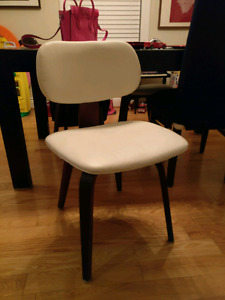 MODERN White Dining Desk Waiting Room Chairs