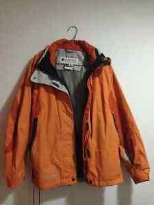 columbia Titanium impermeable orange jacket M