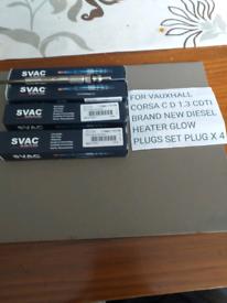 X4 new diesel glow plugs for Vauxhall Corsa 1300 CDTI