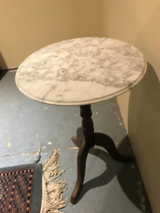 Beautiful round table with solid Marble top