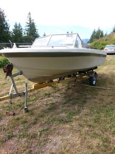 Reinell 17ft. 90hp outboard & trailer.