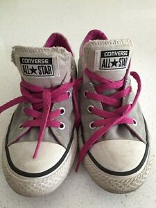 Girl's grey Converse. Size 13 Kitchener / Waterloo Kitchener Area image 1