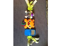 2 pram, cot activity toys