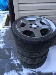 5 tires/rims from Chevy Colbalt