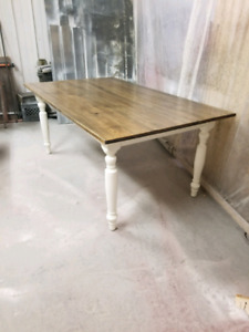 Solid pine rustic harvest table