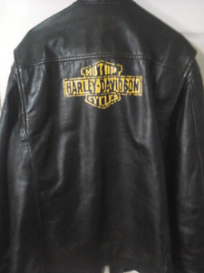 Mens Harley Davidson vintage style leather  jacket