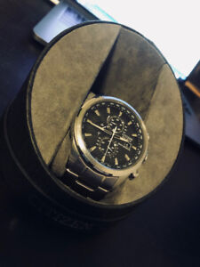 Men's Citizen Eco-Drive World-Time Chronograph Watch