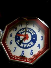 Large neon clock