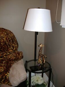lamp with attached table
