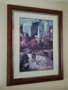 Central Park Framed Art Print by Didier Lourenco Wall Decoration