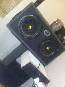 mint condition sub boxs and amp