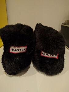 Hunter Fleece Boot Socks w Faux Fur (BLACK)
