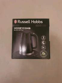 Brand new russell hobbs honeycomb black kettle
