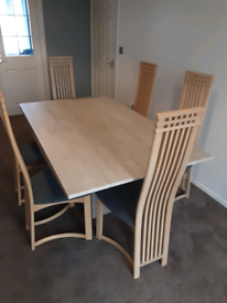 BARKER and Stonehouse table and six chairs