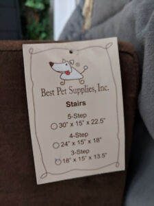 3 step pet stairs for small dogs brand new dark brown suede