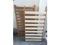 Solid wood cot with missing screws £10